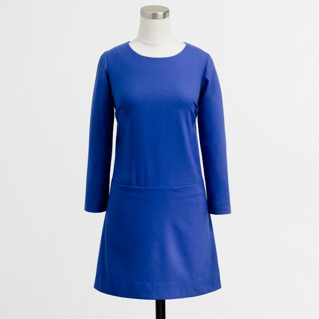 Factory draped shift dress