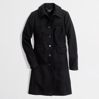 Factory wool-blend walking coat : Coats | J.Crew Factory