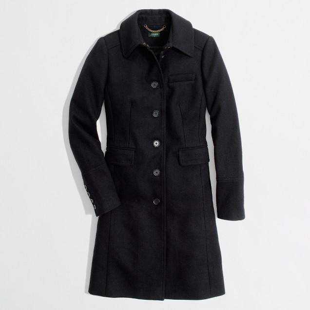 Factory wool-blend walking coat