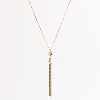 Factory gold disco tassel necklace