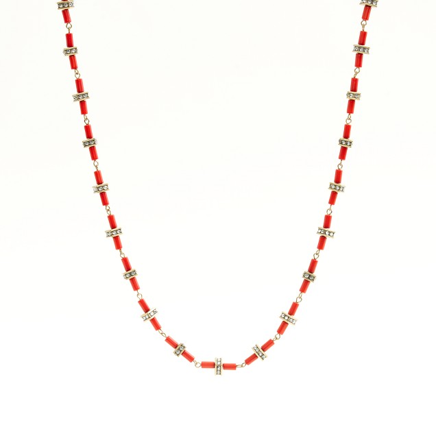 Factory crystal dot-dash necklace