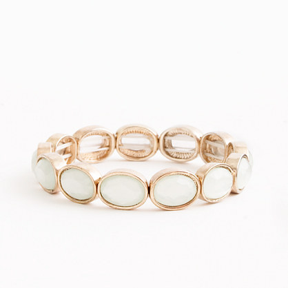 Factory stretch oval stone bracelet