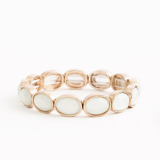 Factory stretch oval stone bracelet