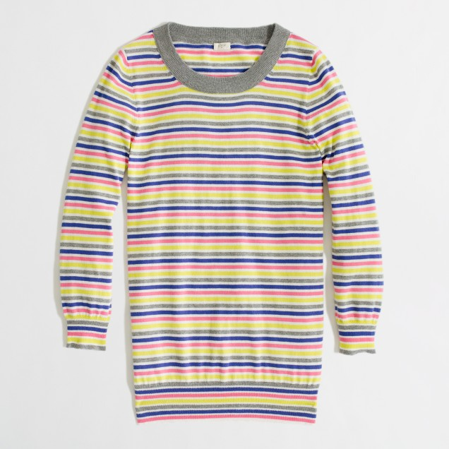 Factory Charley sweater in candy stripe