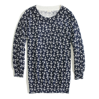 Factory Charley sweater in scattered anchor