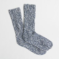 Factory festive marled camp socks