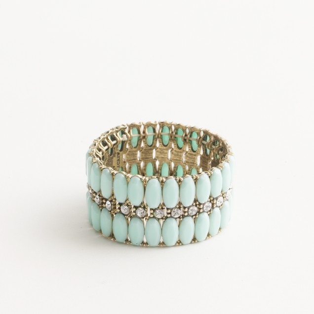 Factory stretch stone and crystal cuff