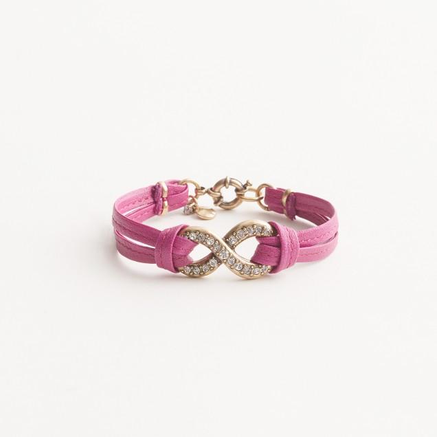 Factory crystal infinity bracelet