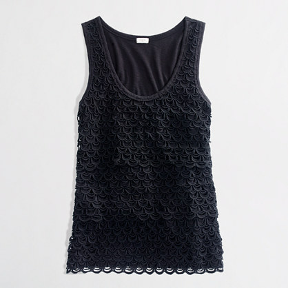 Factory layered lace tank