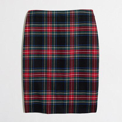 Factory plaid tartan skirt