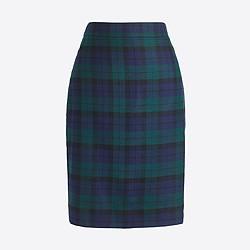 Plaid tartan skirt