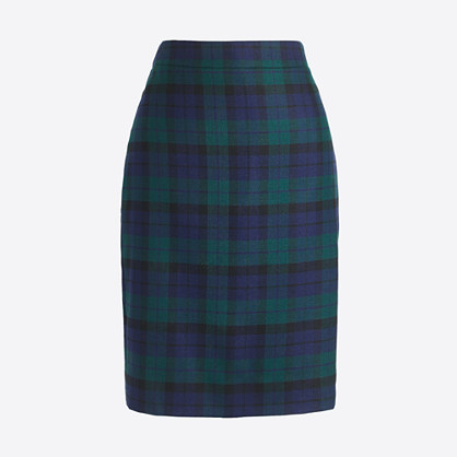 Plaid tartan skirt