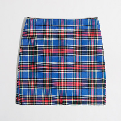Factory plaid mini skirt