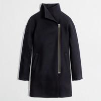 Factory wool-blend funnelneck coat