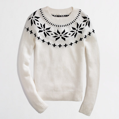 Factory intarsia fair isle sweater
