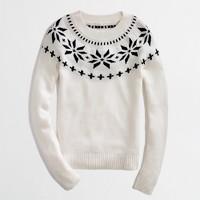 Factory intarsia fair isle sweater