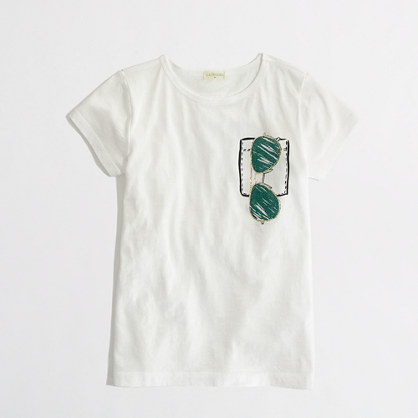 Factory girls' glitter shades keepsake tee