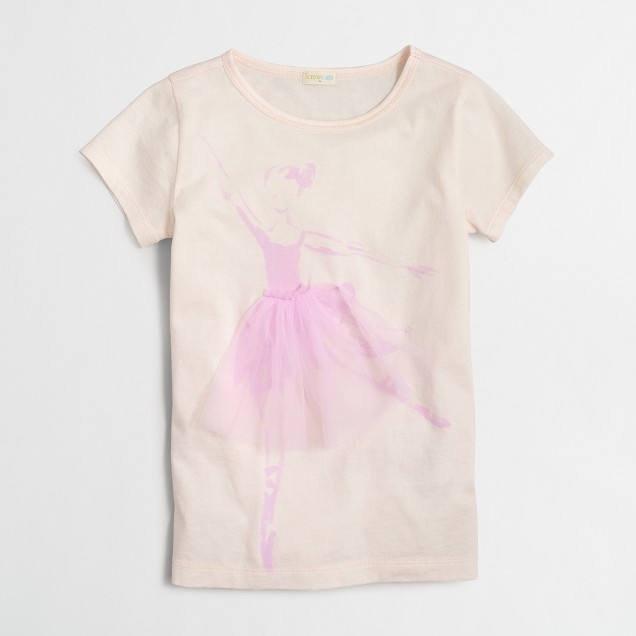 Girls' ballerina keepsake t-SHIRT