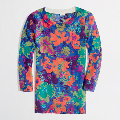 Factory Charley sweater in floral
