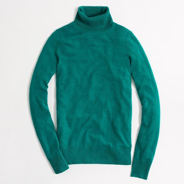 Factory warmspun turtleneck sweater