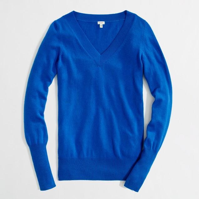 Factory warmspun V-neck sweater