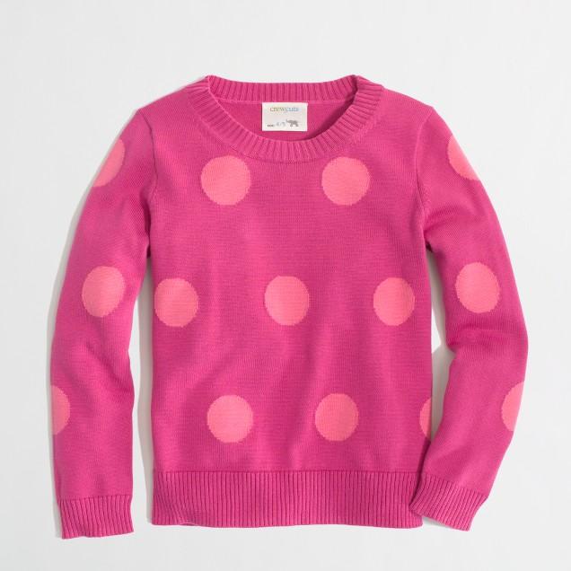 Factory girls' intarsia polka-dot popover