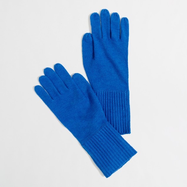 Factory long ribbed gloves
