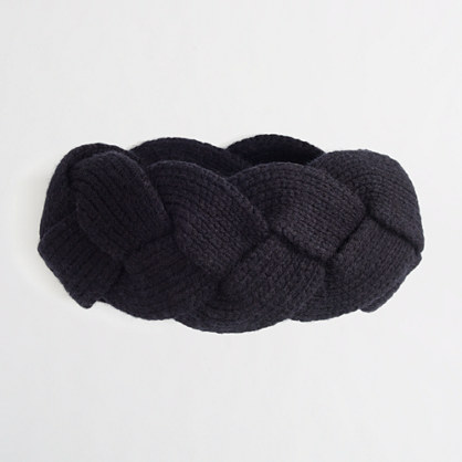 Factory wool-blend braided headband