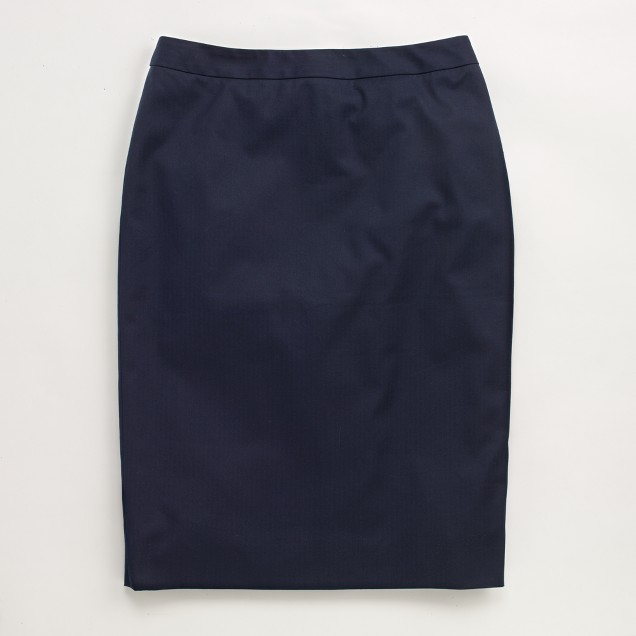Factory cotton pencil skirt