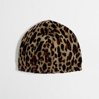 Factory girls' leopard hat