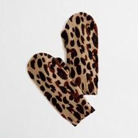 Factory girls' leopard mittens