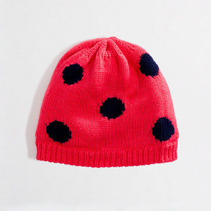 Factory girls' polka-dot hat
