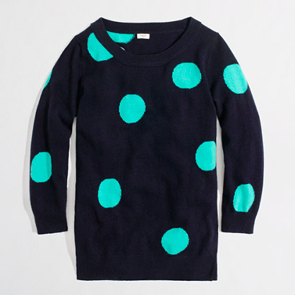 Factory intarsia Charley sweater in dot