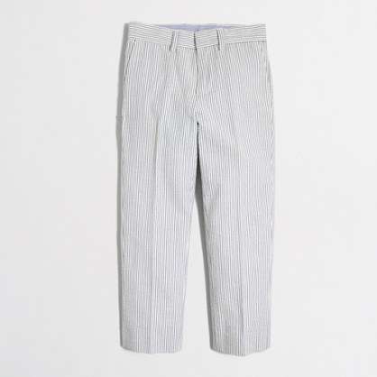 Boys' Thompson suit pant in seersucker
