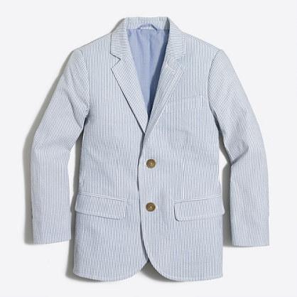 Boys' Thompson suit jacket in seersucker