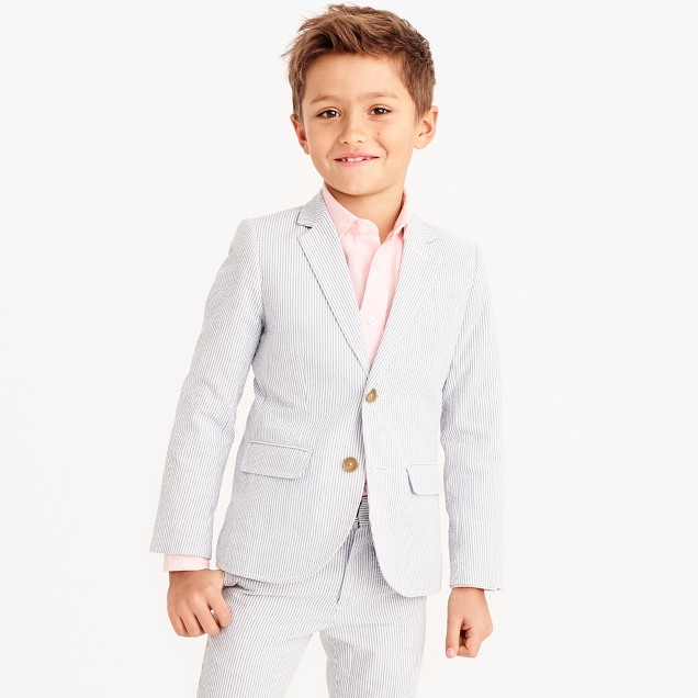 Boys' Thompson suit jacket in seersucker