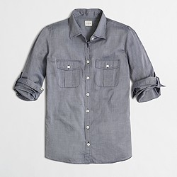 End-on-end camp shirt in perfect fit