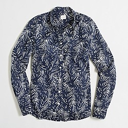 Classic button-down shirt in printed cotton