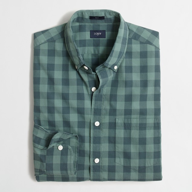 Washed shirt in gingham