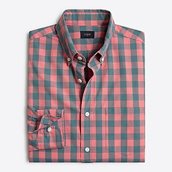 Tall washed shirt in gingham