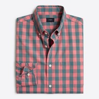 Tall slim washed shirt in gingham