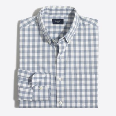 Tall washed shirt in gingham factorymen tall c