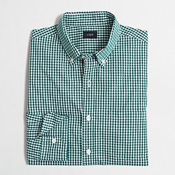 Factory washed shirt in gingham