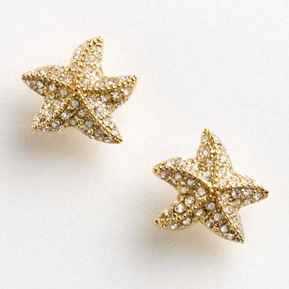 Factory pavé starfish earrings