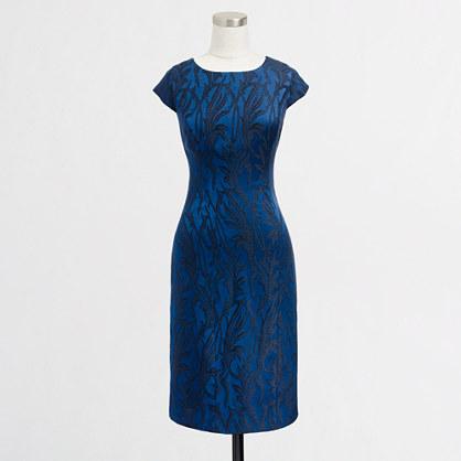 Factory metallic cap-sleeve shift dress