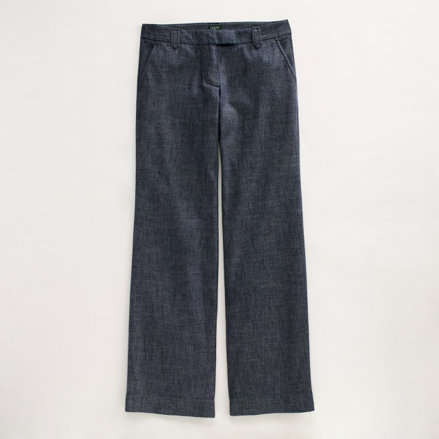 Factory Saturday pant in chambray