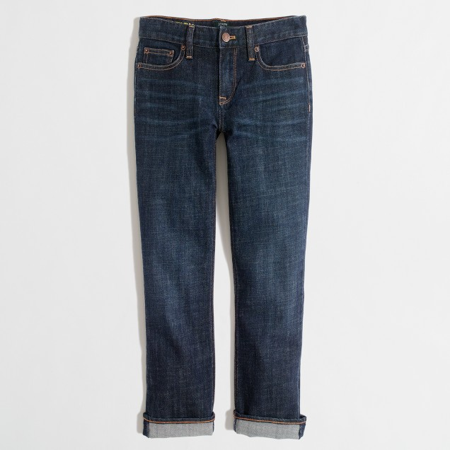 Factory straight and narrow capri jean in indigo wash
