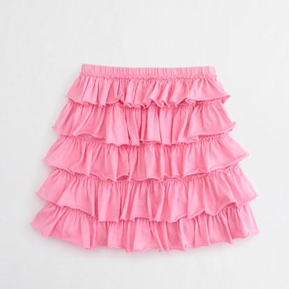Factory girls' layered ruffle skirt