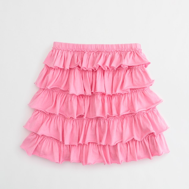 Factory girls' layered ruffle skirt