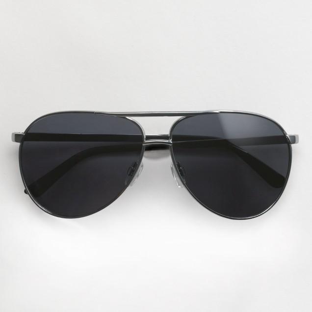 Factory aviator sunglasses in silver